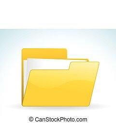 abstract glossy web yellow folder