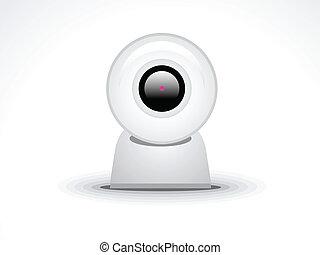 abstract glossy webcamera icon
