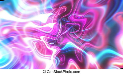 Abstract glow energy background with visual illusion and wave effects, 3d render computer generating