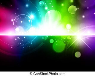 Abstract glowing background - Abstract glowing multicolored...