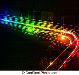 Abstract glowing background - Stylized abstract background...