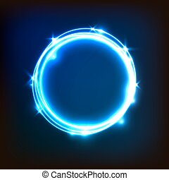 Abstract glowing blue background with circles
