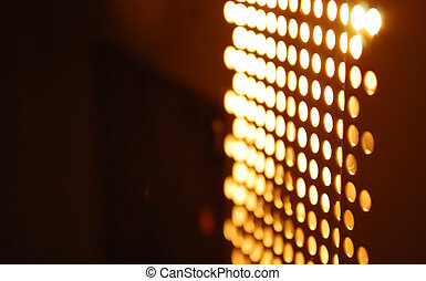 Abstract glowing blurry lights from an electronic device. ...