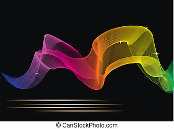 Abstract glowing color background for your design
