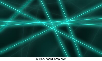 Abstract glowing cyan lines crossings - Hi-tech motion...