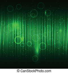 Abstract glowing green vector background.