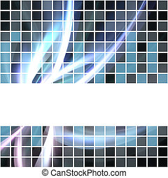 Abstract Glowing Layout - A seamless banner or border that...
