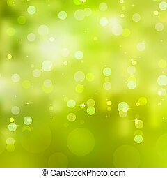 Abstract glowing light on a green. EPS 8