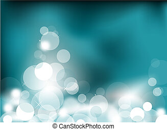 Abstract glowing lights - Abstract glowing light on a teal...