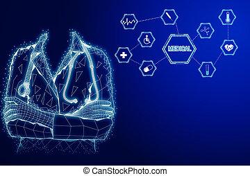 Medicine and ai concept
