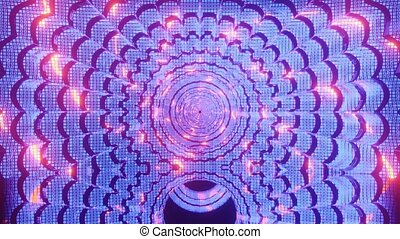 Abstract 4k uhd 60fps glowing neon hole 3d illustration motion background vj vfx animation