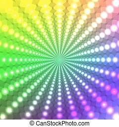 Abstract glowing rainbow background