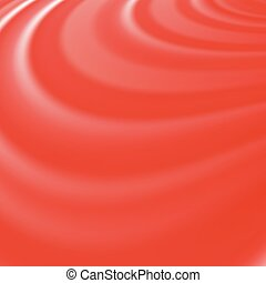 Abstract Glowing Red Waves