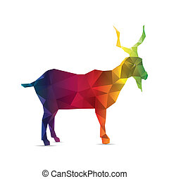 Abstract goat isolated