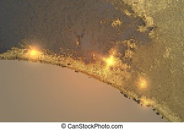 Abstract gold, and gray marble texture with sparkles. Vector background