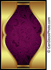 Abstract Gold and Purple Background