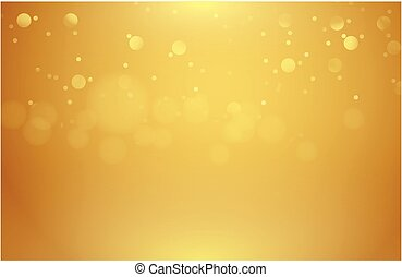 Abstract gold background blurred with bokeh