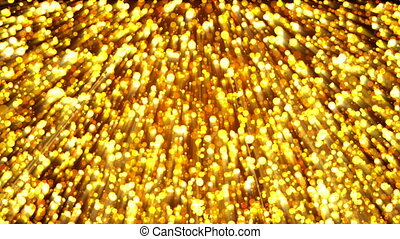 Abstract gold background. Digital backdrop. 3d rendering
