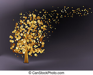 Abstract gold background. EPS 8