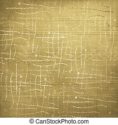 Abstract gold background with curls. Grunge textile