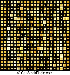 Abstract gold bright background with square shapes