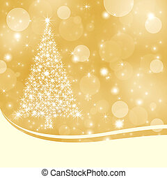 Abstract gold Christmas background with copy space