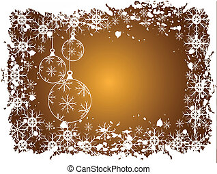 Abstract gold christmas baubles background