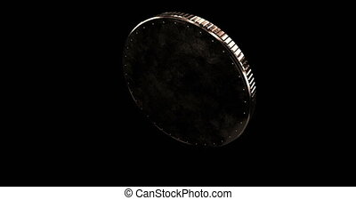Abstract gold coin able to loop seamless