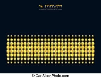 Abstract gold dots halftone on dark blue minimal design of decoration background. illustration vecto eps10