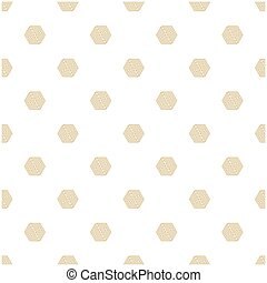 Abstract Gold Hexagon White Pattern Vector Image
