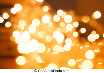 Abstract gold light