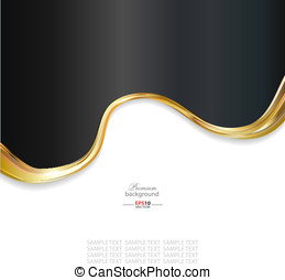 Abstract gold metallic background