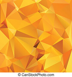 Abstract gold orange background polygon.