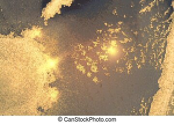 Abstract gold, smoke grey marble pattern with sparkles