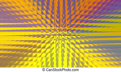 abstract gold square pattern 4K - The square pixel...