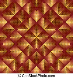 Abstract gold squares background