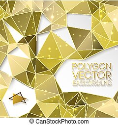 Abstract Gold Triangle Vector Background