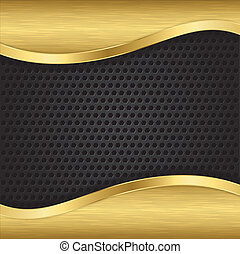 Abstract golden background with met