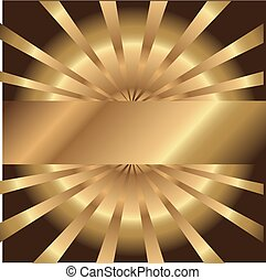 Abstract golden background with