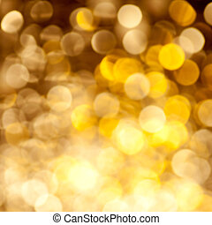 Abstract golden blurred lights background