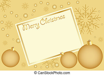 Abstract golden christmas  background, with room for text