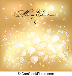 Christmas background - Abstract golden Christmas background...