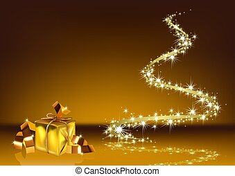 Abstract Golden Christmas