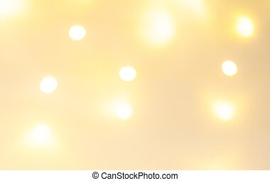 Abstract Golden Christmas Winter Background with sparkling bokeh lights