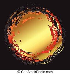Abstract golden circle art