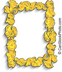 Abstract golden frame