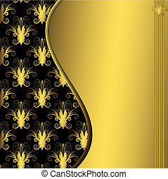 Abstract golden frame (vector)
