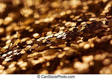 Abstract golden glitter texture background