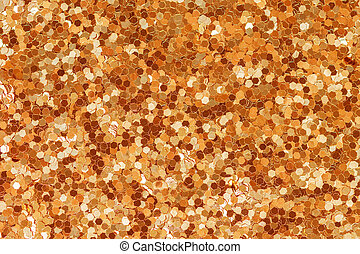 Abstract Golden Glitter Texture Background