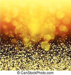abstract golden glow. Christmas background with gold magic star